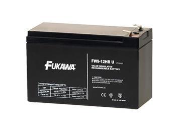 akumulátor FUKAWA FW 9-12 HRU (12V; 9Ah; faston 6,3mm; životnost 5let)