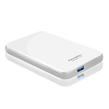 """AXAGON EE25-S6, USB3.0 - SATA 6G, 2.5"""" SCREWLESS externí box, bílý"""