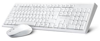 CONNECT IT Combo bezdrátová bílá klávesnice + myš,