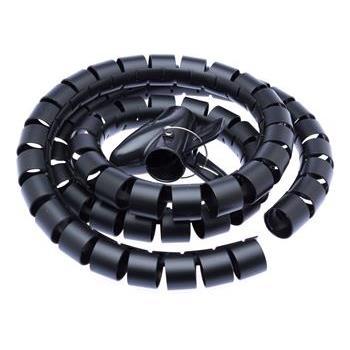 CONNECT IT trubice pro vedení kabelů WINDER, 1,5m x 30mm černá