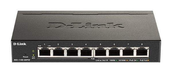 D-Link DGS-1100-08PV2 8-Port PoE Gigabit Smart Managed Switch- 8-Port 1000BaseTX Auto-Negotiating 10/100/1000Mbps Switch