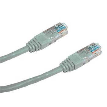 DATACOM Patch cord UTP CAT5E 5m šedý