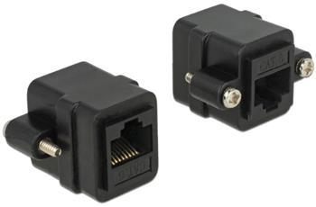 Delock Adapter RJ45 female > RJ45 female panel-mount Cat.6 UTP