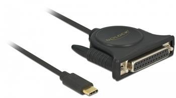 Delock Adaptér USB Type-C™ 2.0 samec > 1 x Paralelní DB25 samice