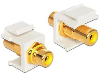 Delock Keystone module RCA samice > RCA samice,pozlacen,žlutý