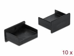 Delock Prachová záslepka pro USB Type-A samice samice bez uchopení 10 kusu cerná
