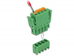 Delock Set svorkovnice pro PCB 4 pin rozteč 3,81 mm vertikální