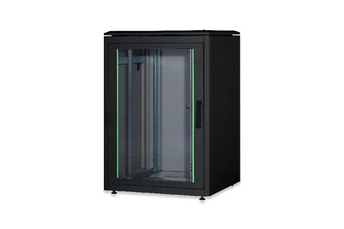 Digitus 22U Network Cabinet 1164X800X800 Mm, Color Black Ral 9005 Digitus 22U network cabinet 1164x800x800 mm, color black RAL 9005 Black Things black color ral 9005