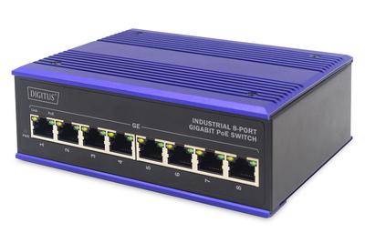 DIGITUS Professional Industrial 8-Port Gigabit PoE Switch