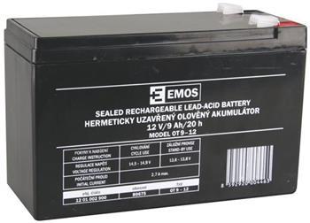 Emos baterie SLA 12V / 9 Ah, Faston 6.3 (250)
