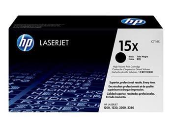 HP C7115X Toner 15X pro LJ 1000w,1200,1220,33x0MFP, (3500str), Black