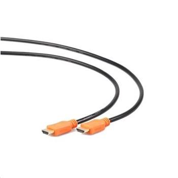 Kabel GEMBIRD HDMI-HDMI1,8m, 1.4, M/M stíněný, zlacené kontakty, CCS, ethernet, černý