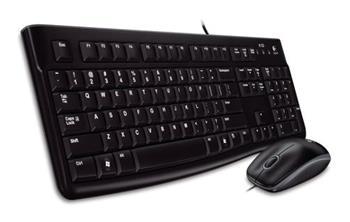 Logitech klávesnice s myší Desktop MK120, CZ/SK, USB, černá