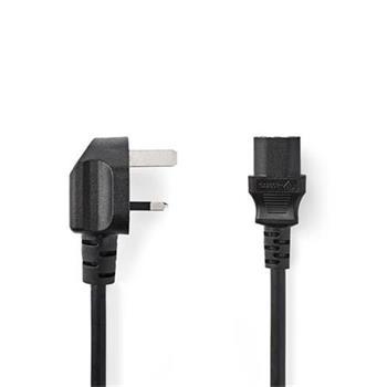 Nedis CEGP11100BK20 - Napájecí Kabel | Zástrčka Typu G (UK) - IEC-320-C13 | 2 m | Černá barva