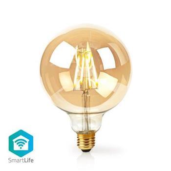 Nedis WIFILF10GDG125 - WiFi Chytrá LED Žárovka s Vláknem   E27   125 mm   5 W   500 lm   Teplá Bílá