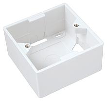 Solarix Box na omítku pro zásuvku SX9 bílý 80 x 80 x 41mm