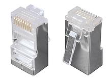 Solarix Modulární konektor 8p8c CAT5E neskládaný, stíněný, pro drát