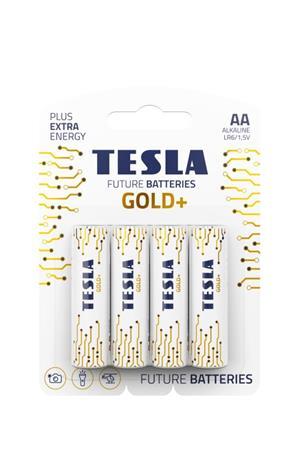 Tesla AA GOLD+ alkalická, 4 ks, ND