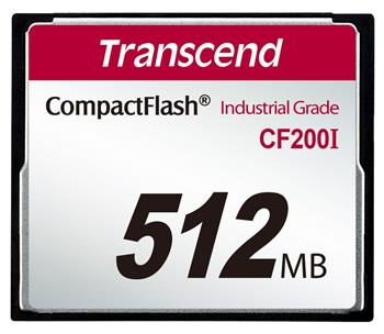 Transcend 512MB INDUSTRIAL TEMP CF200I CF CARD, pa