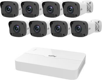 UNV IP KIT, 1x NVR NVR301-04LB-P4 + 4x IP kamera IPC2122LR3-PF40M-D