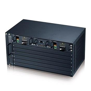 Zyxel IES5206M, 5U 6-SLOT chassis MSAN with one AC power module(100-240V AC input)& one DC power module (48V DC input),