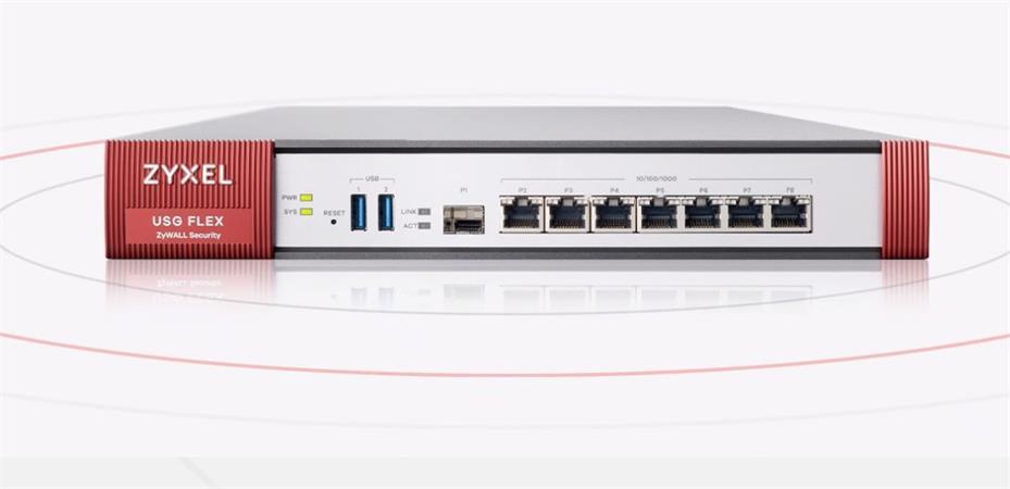 Zyxel USG Flex 500 Firewall 7 Gigabit user-definable ports, 1*SFP, 2* USB (Device only)